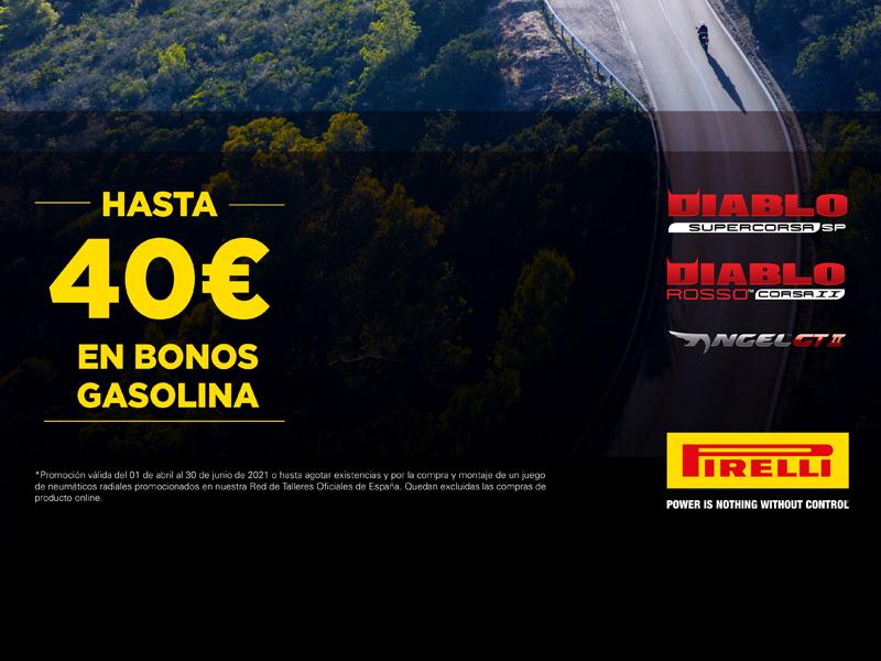 Pirelli regala cheques de gasolina por la compra de neumáticos de moto