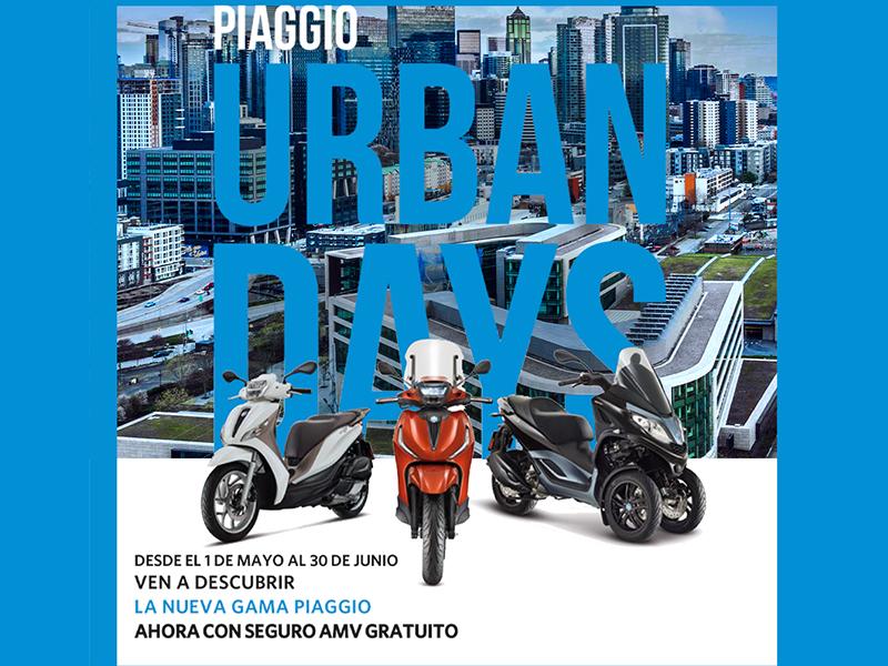 Este mes de junio aprovéchate de la promoción Urban Days de Piaggio y AMV