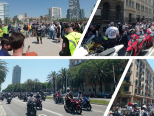Miles de motoristas se manifiestan por sus derechos