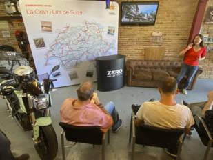 Alicia Sornosa explica su ruta por Suiza con una Zero SR/F