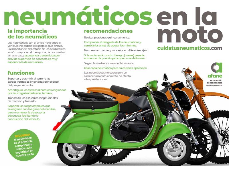 AFANE lanza una campaña para concienciar a los motoristas sobre la importancia de los neumáticos