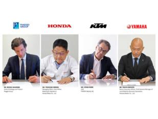 Piaggio, Honda, Yamaha y KTM firman el Consorcio Baterías Intercambiables (SBMC)