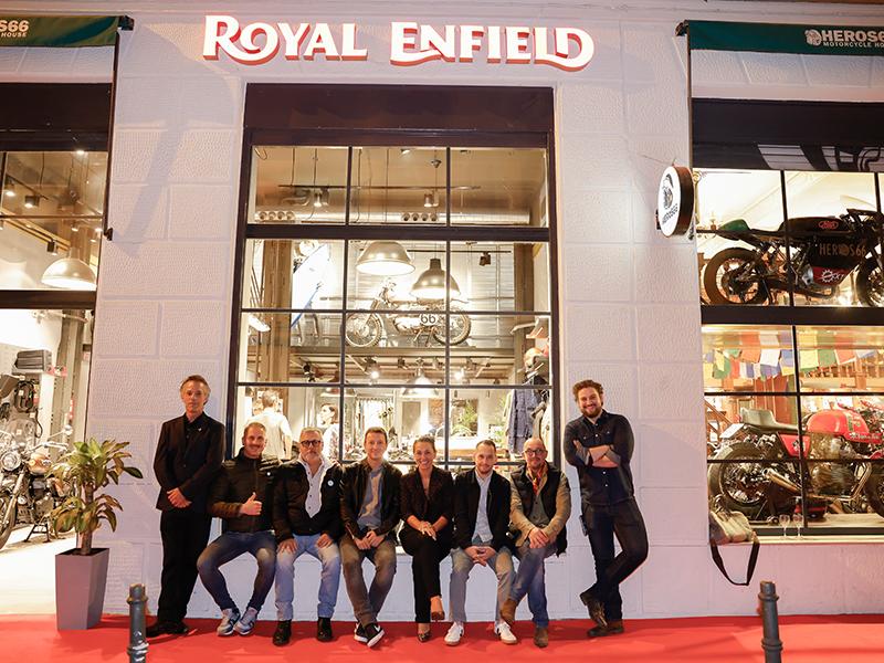 Inauguración oficial de Royal Enfield Heros 66 Madrid